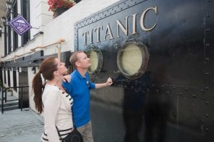 couples viewing titanic cobh