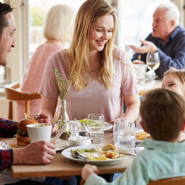 family dining in cork